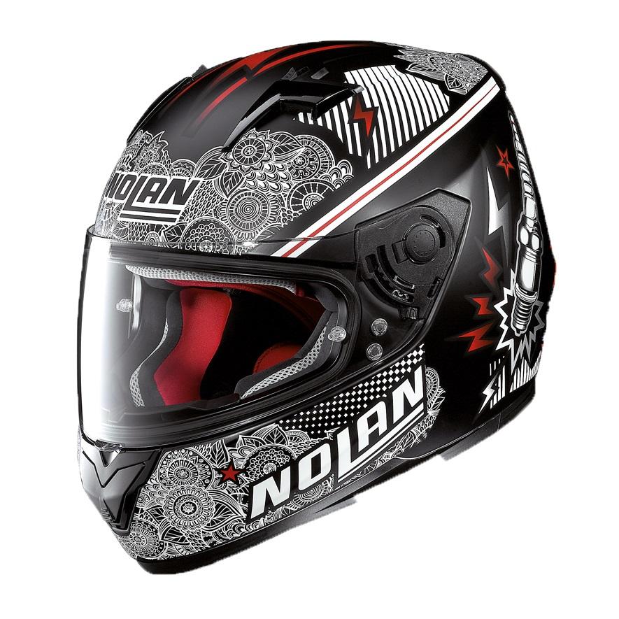 Moto prilba Nolan N64 Let's Go Flat Black
