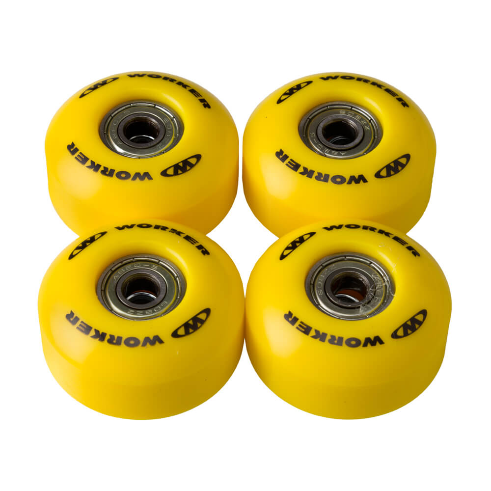 Kolieska na skateboard WORKER 50*30mm vr. ložísk ABEC 5 žltá
