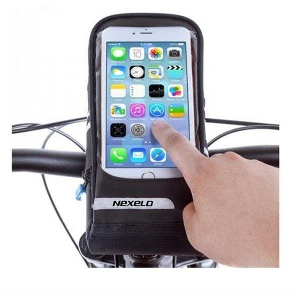 Brašňa na riadidlá s vreckom na smartphone Nexelo L300347