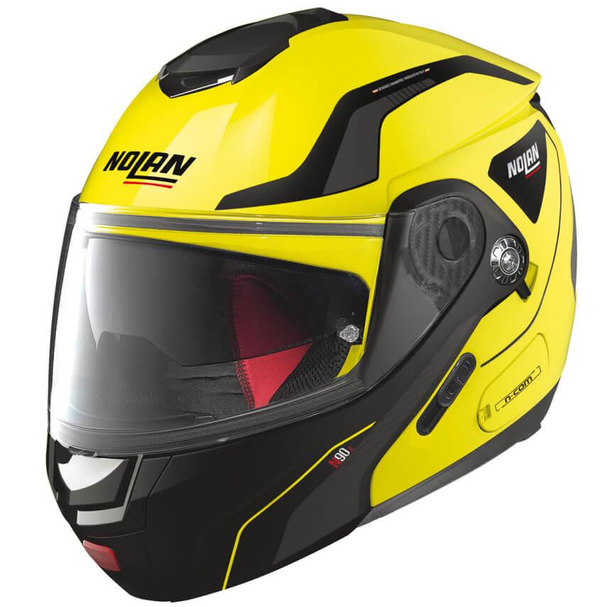 Moto helma Nolan N90-2 Straton N-Com LED Yellow