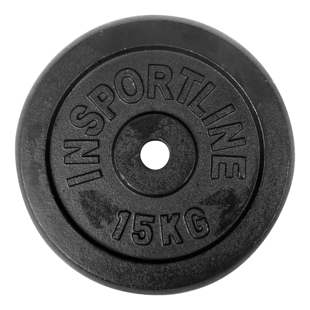 Oceľové závažie inSPORTline Blacksteel 15 kg