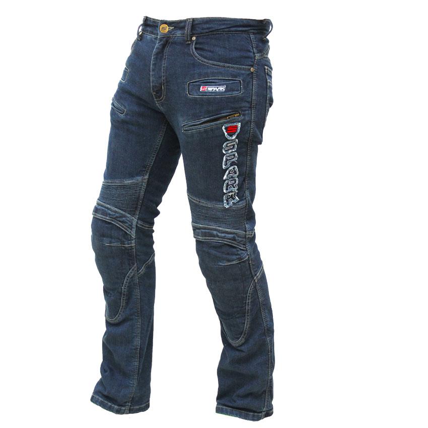 Pánske jeansové moto nohavice SPARK Hawk modrá - 3XL