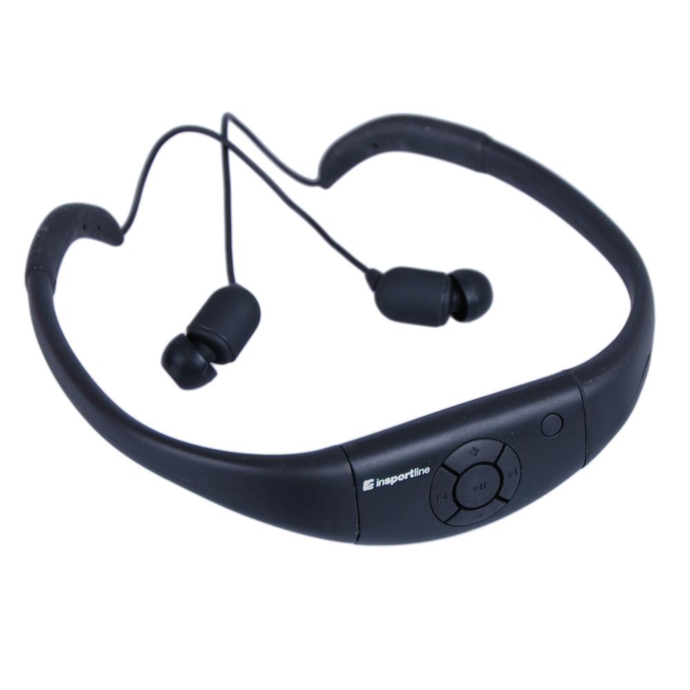 Vodotesný MP3 prehrávač inSPORTline Drumy - so slúchadlami čierna