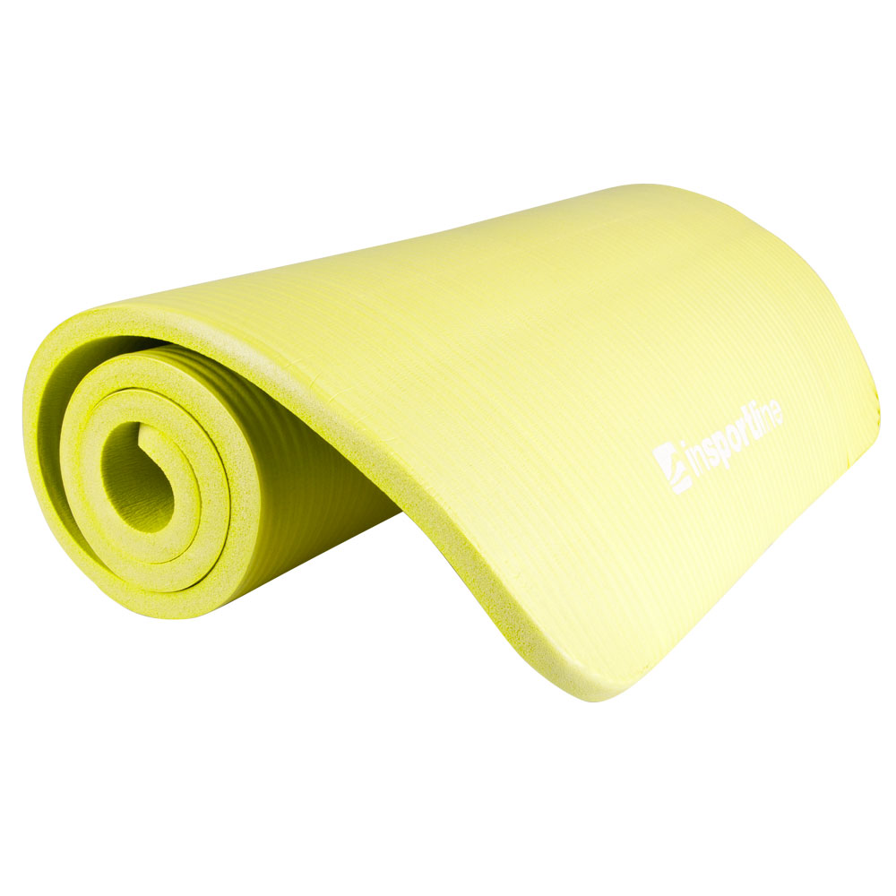 Podložka na cvičenie inSPORTline Fity 140x61x1,5 cm zeleno-žltá