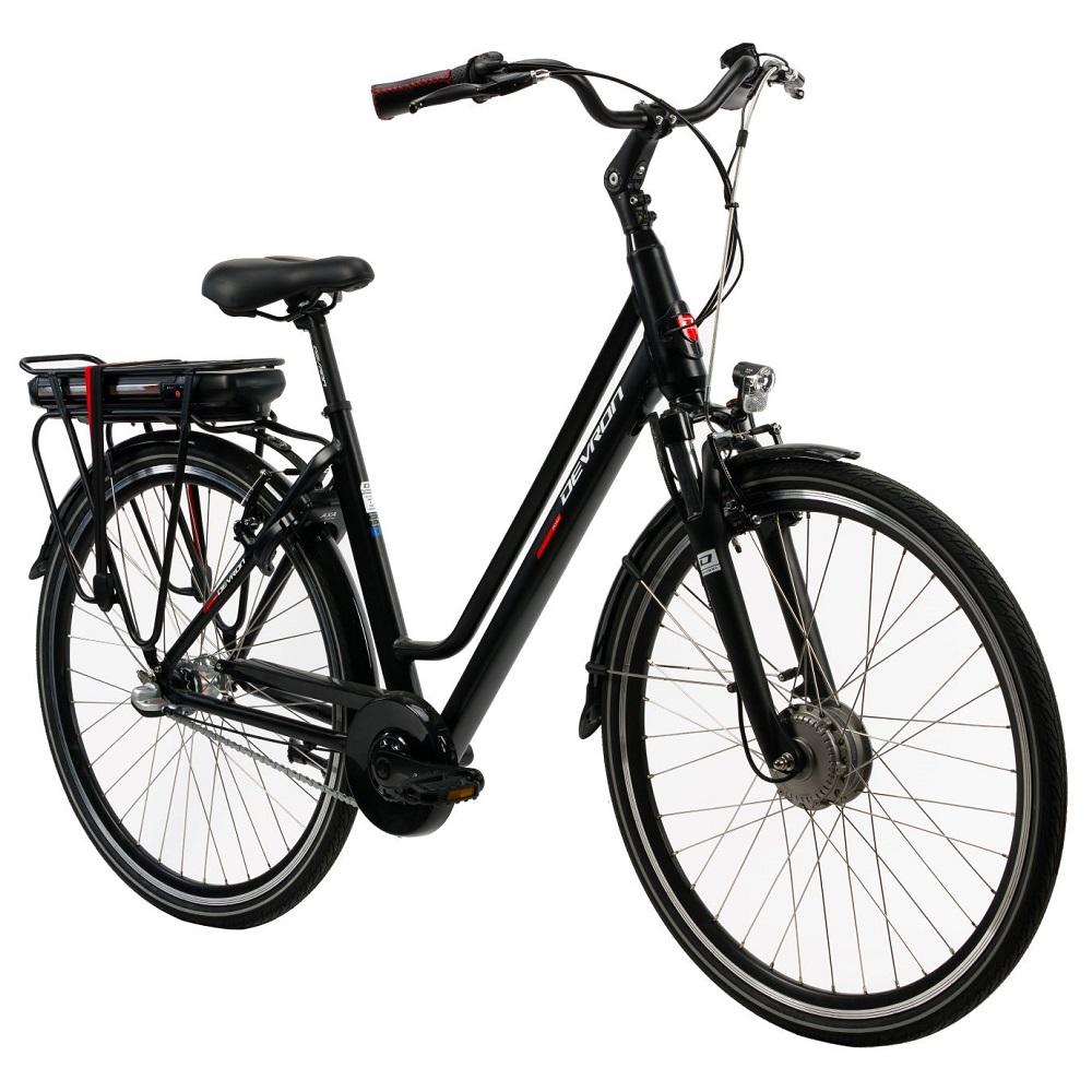 "Mestský elektrobicykel Devron 28122 - model 2019 Black - 19,5"" - Záruka 10 rokov"