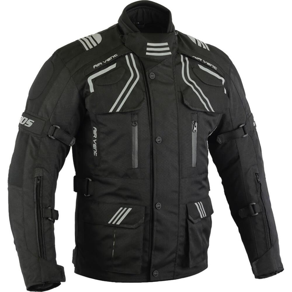 Pánska touringová moto bunda BOS Temper čierna - 5XL