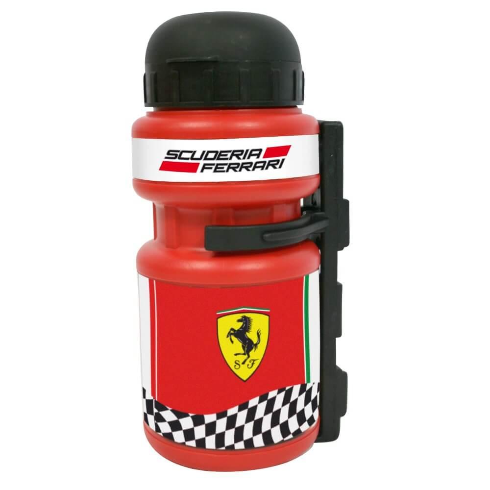 Plastová cyklo fľaša s držiakom Ferrari