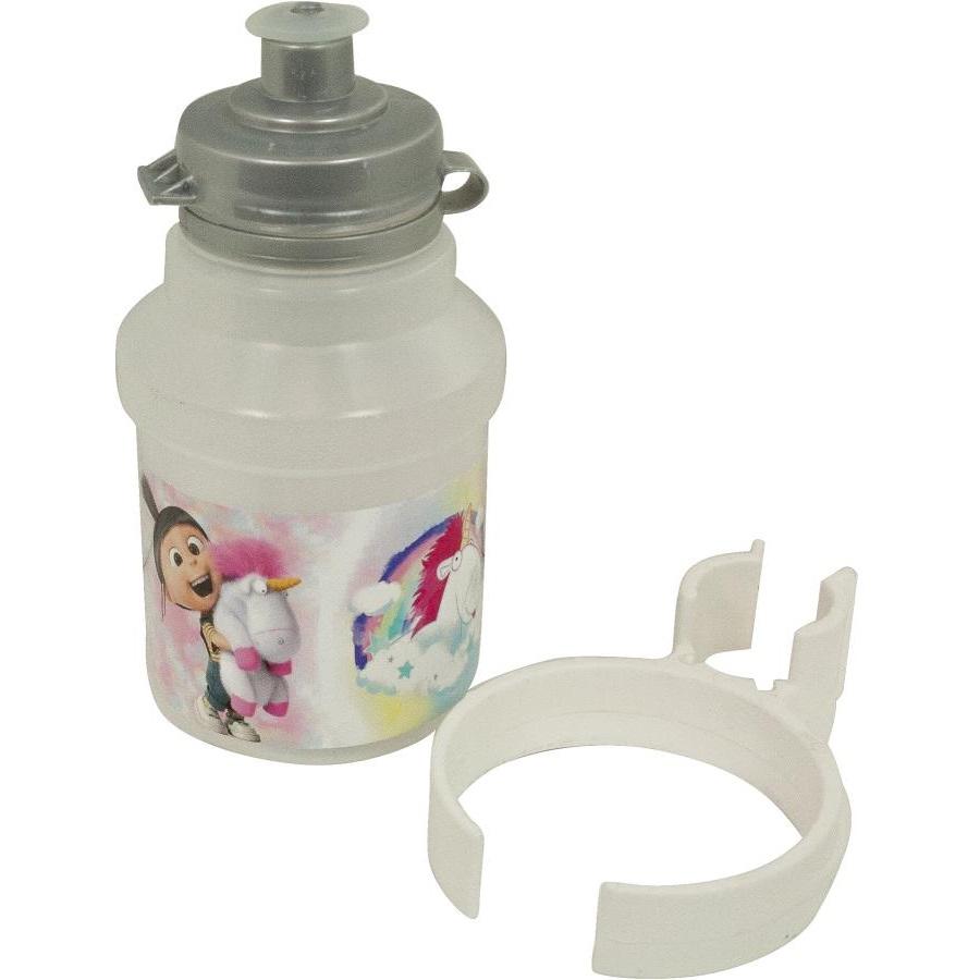 Cyklo fľaša Mimoni Fluffy 350 ml biela s držiakom