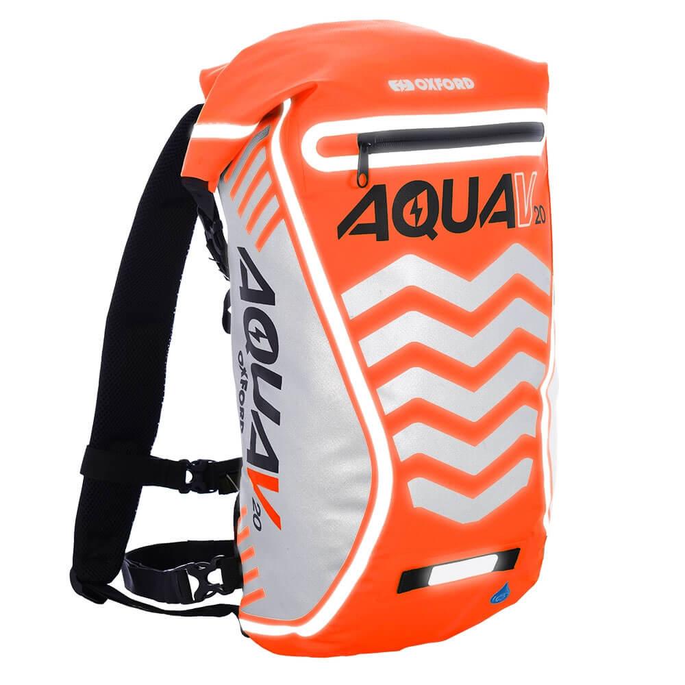 Vodotesný batoh Oxford Aqua V20 Extreme Visibility 20l oranžová