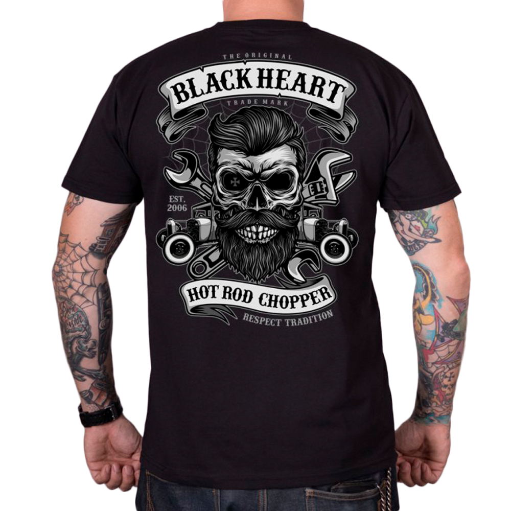 Tričko BLACK HEART Respect Tradition čierna - L