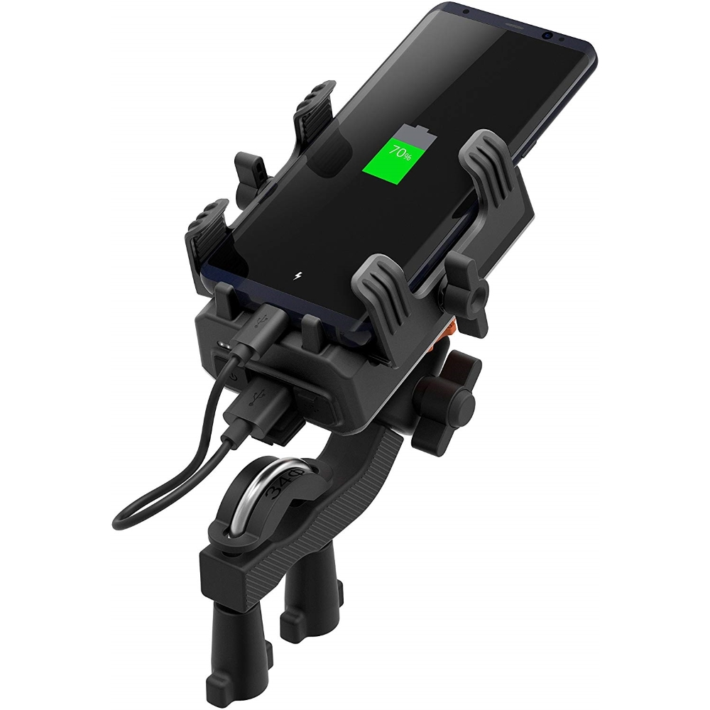 Držiak mobilného telefónu na riadidlá SENA PowerPro vrátane powerbanky