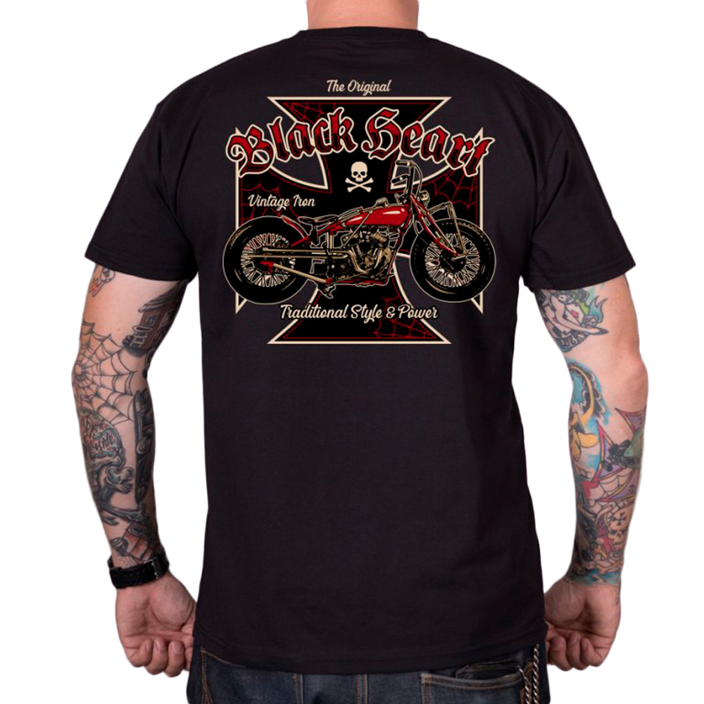 Tričko BLACK HEART Vintage Iron čierna - L