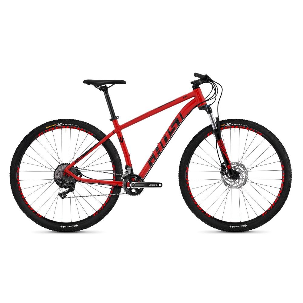"Horský bicykel Ghost Kato 7.9 AL U 29"" - model 2019 Riot Red / Night Black - S (16,5"") - Záruka 10 rokov"