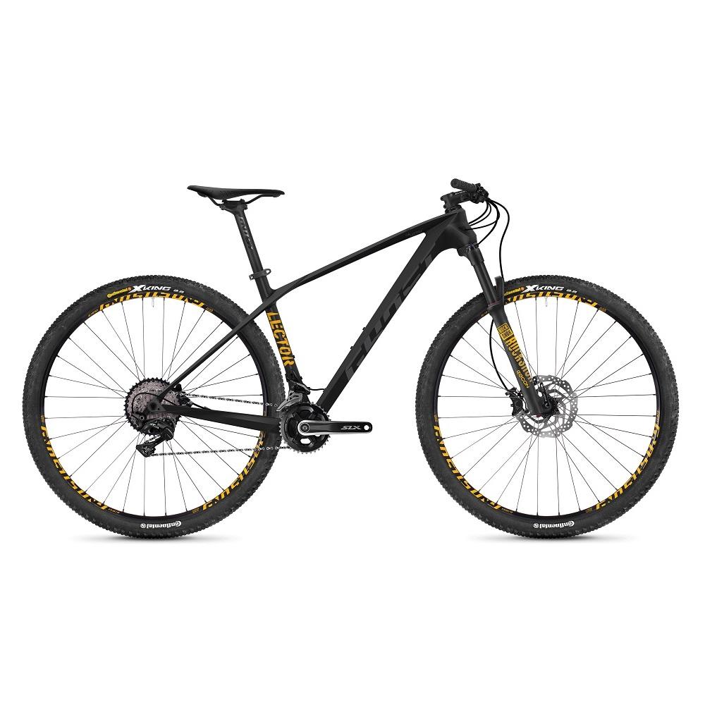 "Horský bicykel Ghost Lector 2.9 LC U 29"" - model 2019 Night Black / Titanium Grey / Spectra Yellow - M (18"") - Záruka 10 rokov"