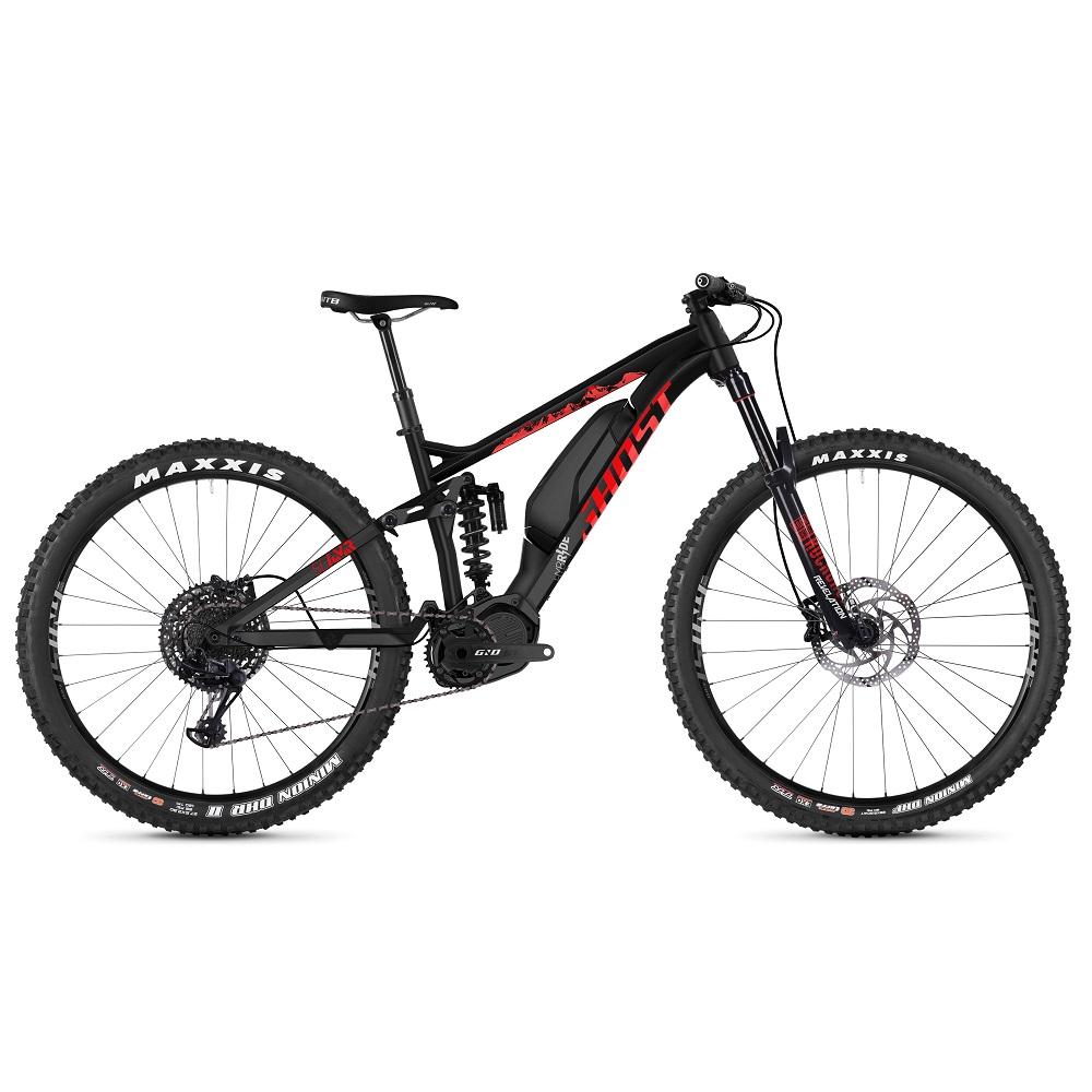 """Celoodpružený elektrobicykel Ghost Hybride SL AMR S2.7+ AL 29"""" - model 2019 Night Black / Riot Red / Iridium Silver - M (17"""") - Záruka 10 rokov"""