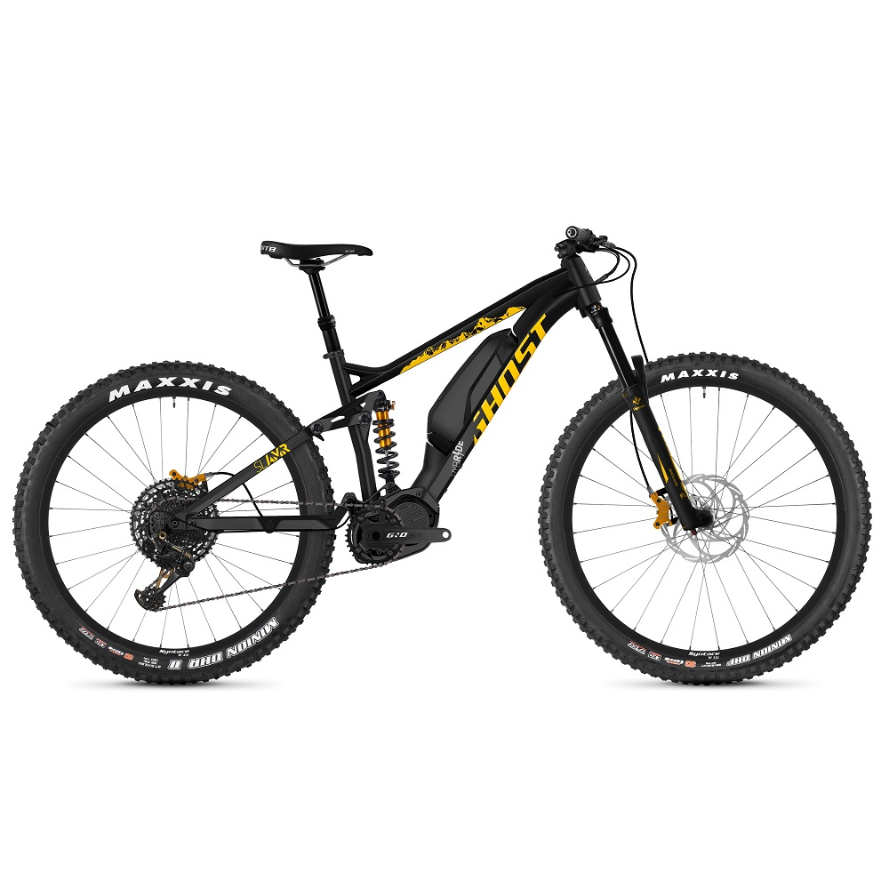"Celoodpružený elektrobicykel Ghost Hybride SL AMR S3.7+ AL 29"" - model 2019 Night Black / Spectra Yellow / Iridium Silver - M (17"") - Záruka 10 rokov"