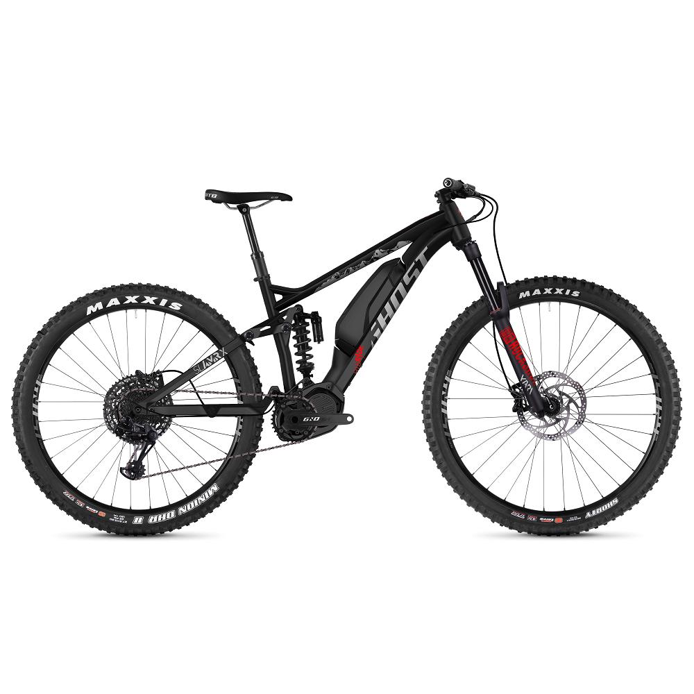 """Celoodpružený elektrobicykel Ghost Hybride SL AMR X S3.7+ AL 29"""" - model 2019 Night Black / Iridium Silver / Riot Red - L (18"""") - Záruka 10 rokov"""