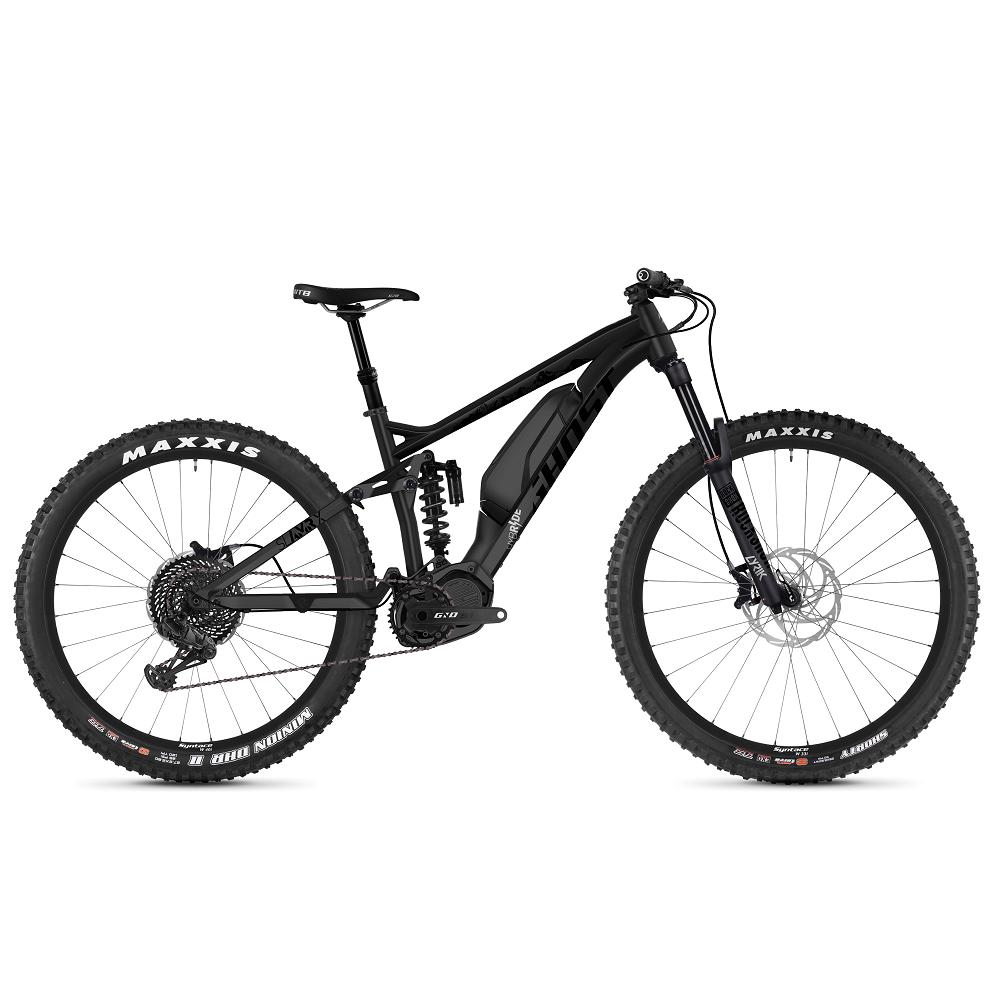 "Celoodpružený elektrobicykel Ghost Hybride SL AMR X S4.7+ AL 29"" - model 2019 Night Black / Jet Black / Iridium Silver - M (17"") - Záruka 10 rokov"