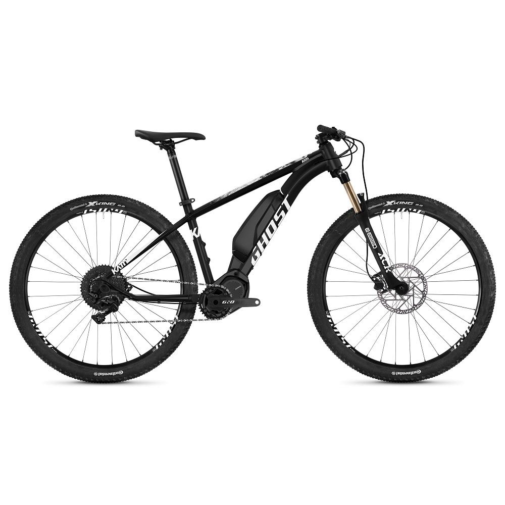 """Horský elektrobicykel Ghost Kato S3.9 29"""" - model 2019 Night Black / Star White - XS (14"""") - Záruka 10 rokov"""
