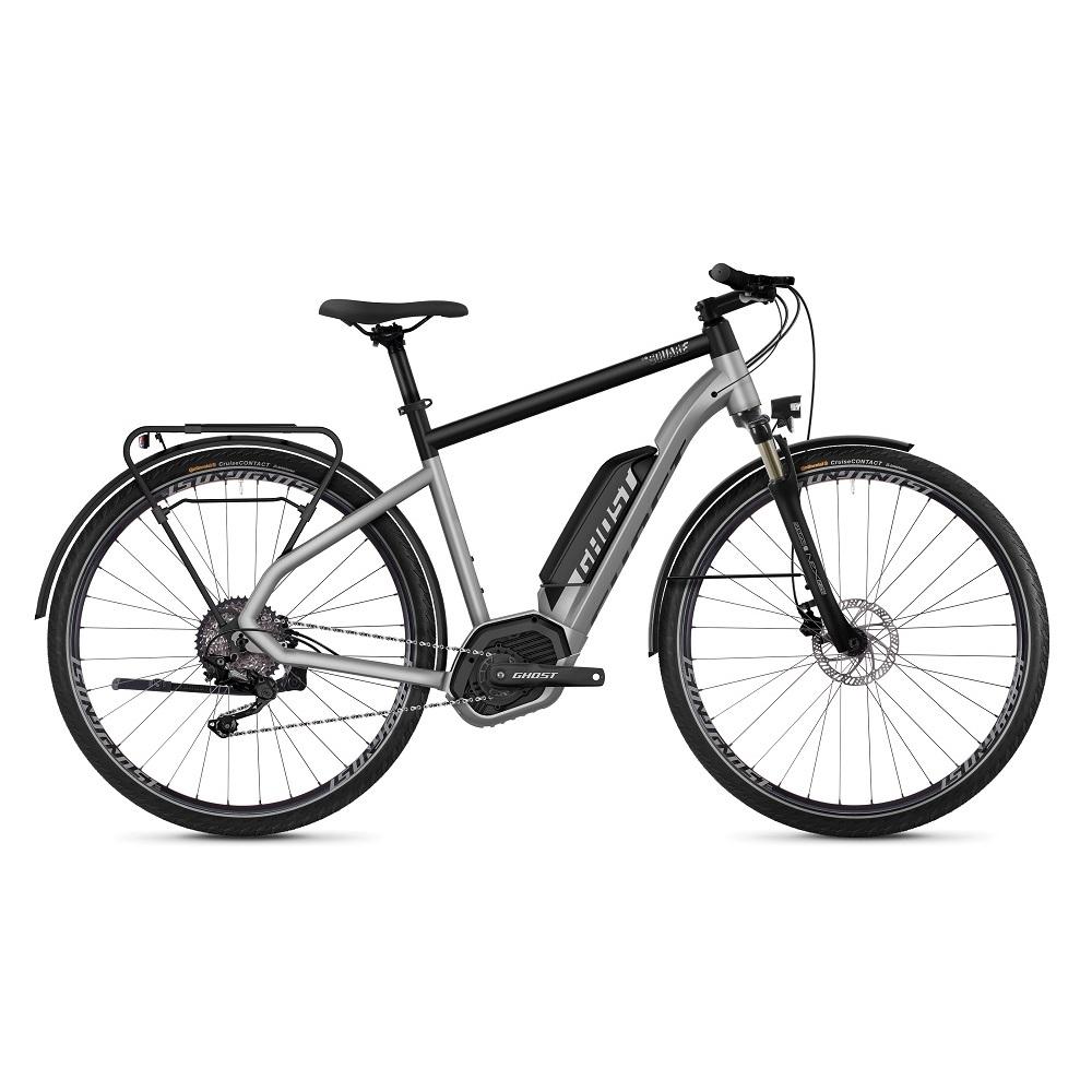 "Trekingový elektrobicykel Ghost Hybride Square Trekking B2.8 28"" - model 2019 Iridium Silver / Jet Black - M (20,5"") - Záruka 10 rokov"