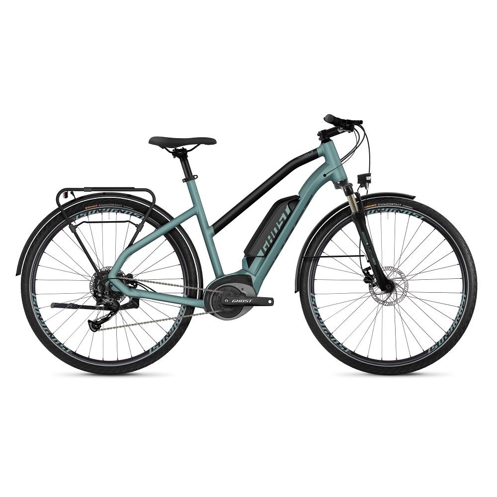 "Dámsky trekingový elektrobicykel Ghost Square Trekking B1.8 Ladies 28"" - model 2019 River Blue / Jet Black - S (18,5"") - Záruka 10 rokov"