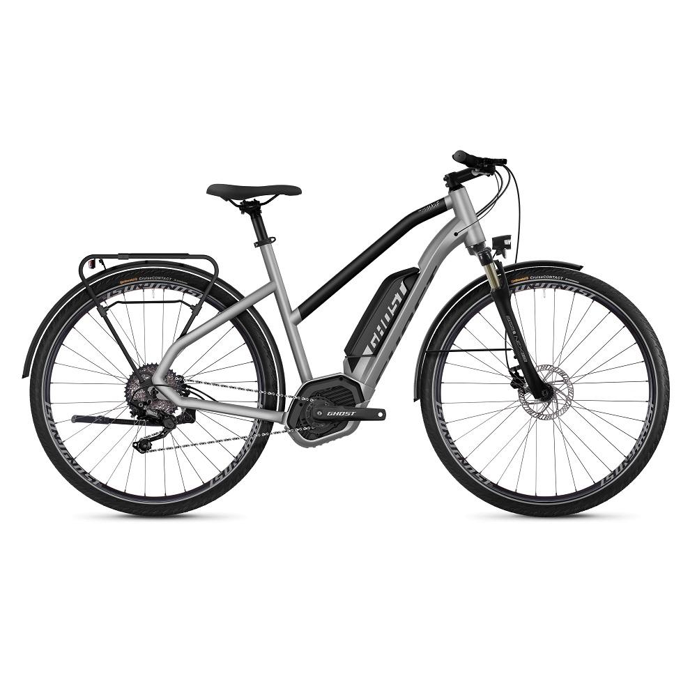 "Dámsky trekingový elektrobicykel Ghost Hybride Square Trekking B2.8 Ladies 28"" - model 2019 Iridium Silver / Jet Black - S (18,5"") - Záruka 10 rokov"