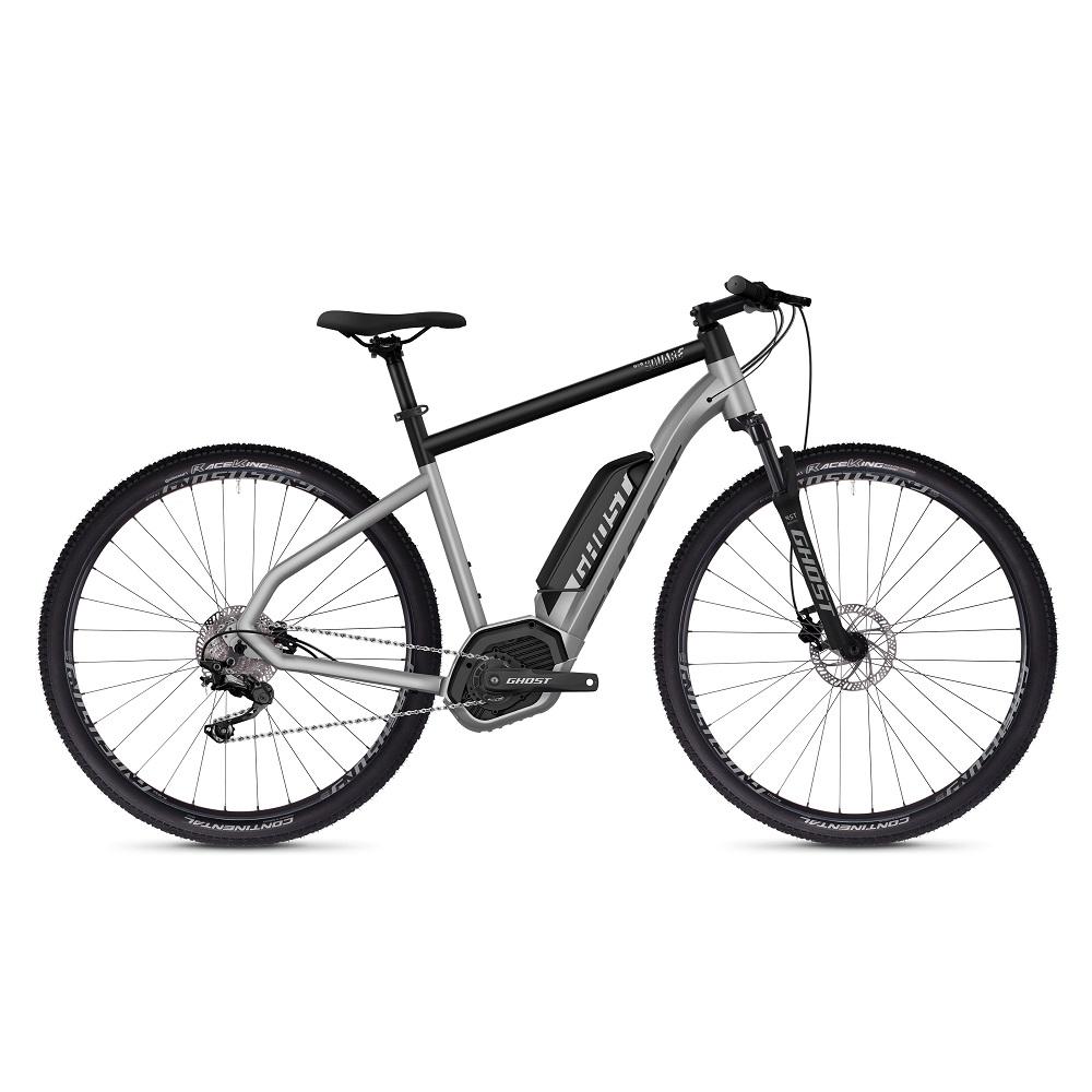 """Crossový elektrobicykel Ghost Hybride Square Cross B2.9 29"""" - model 2019 Iridium Silver / Jet Black - S (18,5"""") - Záruka 10 rokov"""