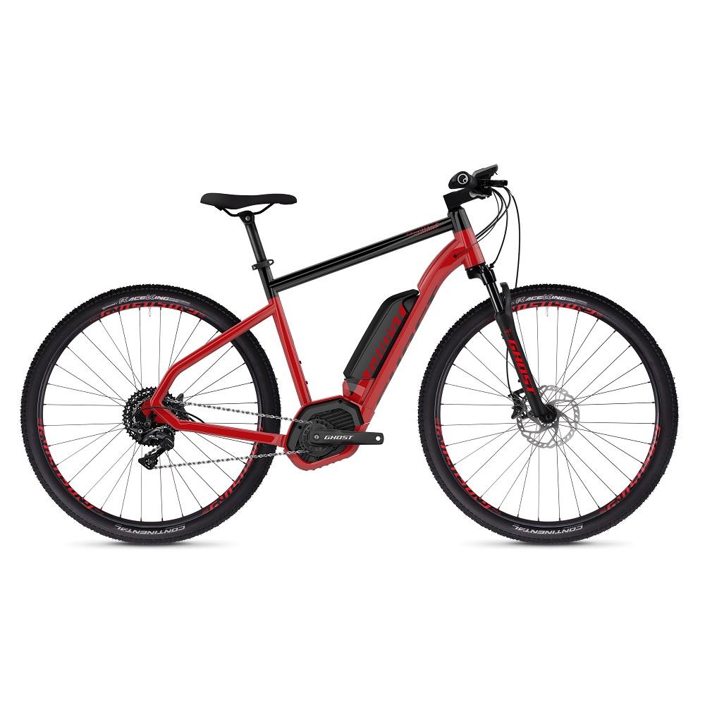 """Crossový elektrobicykel Ghost Hybride Square Cross B4.9 29"""" - model 2019 Riot Red / Jet Black - M (20,5"""") - Záruka 10 rokov"""