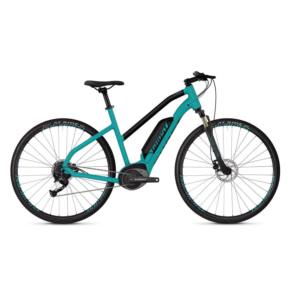 "Dámsky crossový elektrobicykel Ghost Square Cross B1.8 Ladies 28"" - model 2019 Electric Blue / Jet Black - S (18,5"") - Záruka 10 rokov"