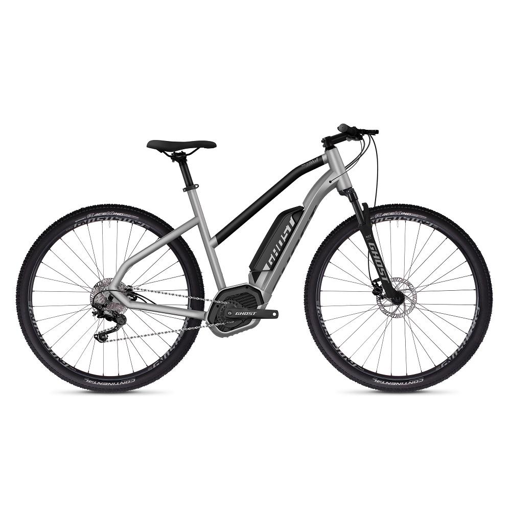 """Dámsky crossový elektrobicykel Ghost Hybride Square Cross B2.9 Ladies 29"""" - model 2019 Iridium Silver / Jet Black - S (18,5"""") - Záruka 10 rokov"""