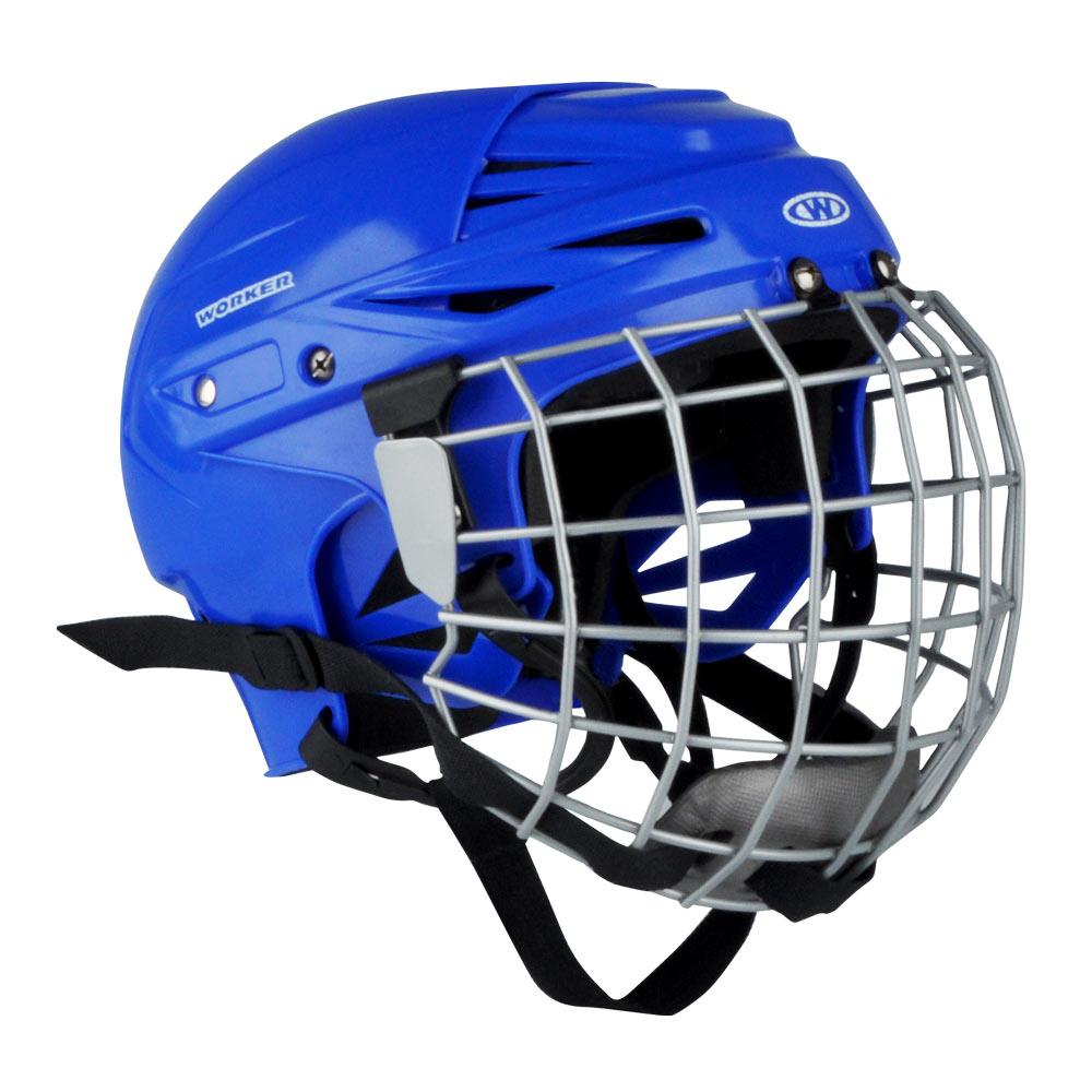 Hokejová prilba WORKER Kayro modrá - L (56-61)