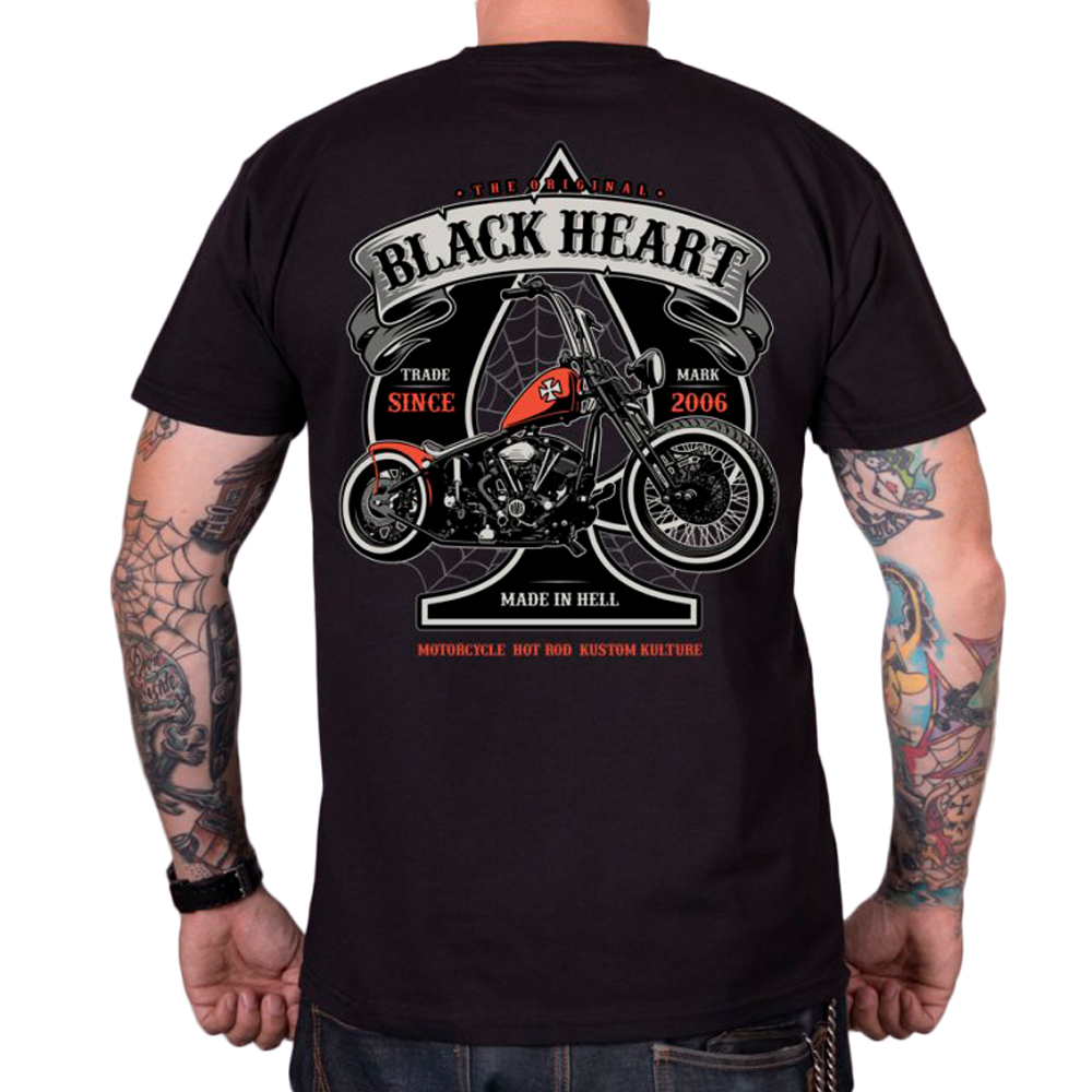 Tričko BLACK HEART Orange Chopper