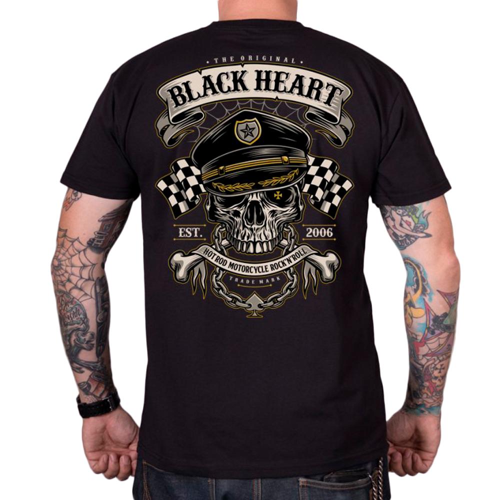 Tričko BLACK HEART Old School Racer