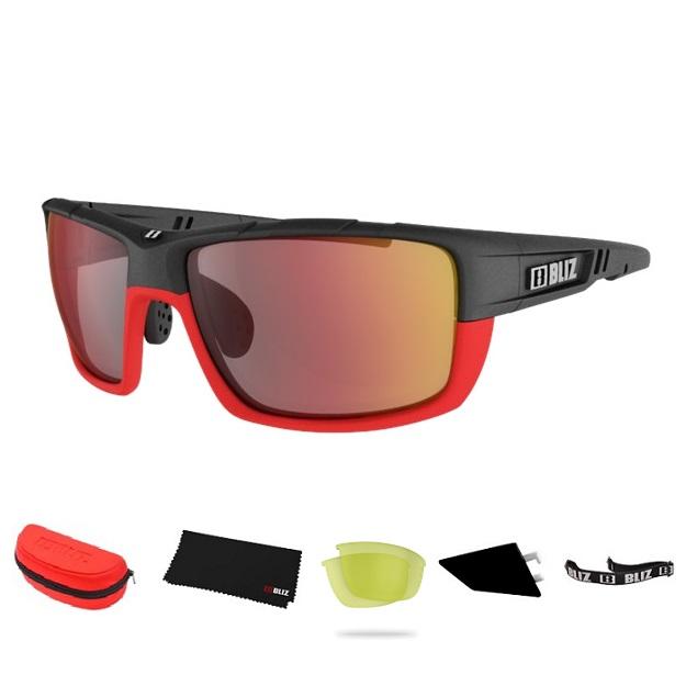 Športové slnečné okuliare Bliz Tracker Ozon červené