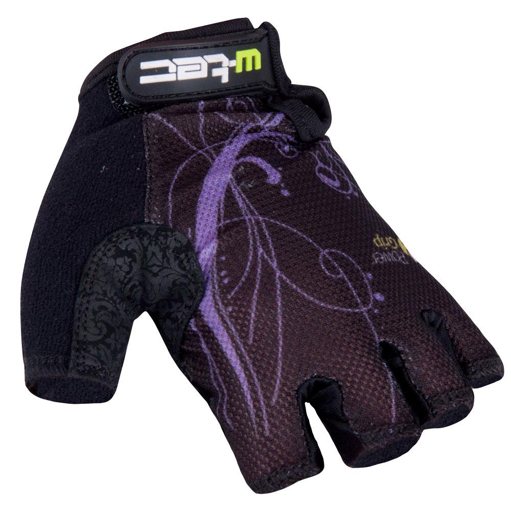 Dámske cyklo rukavice W-TEC Mison čierno-fialová - L