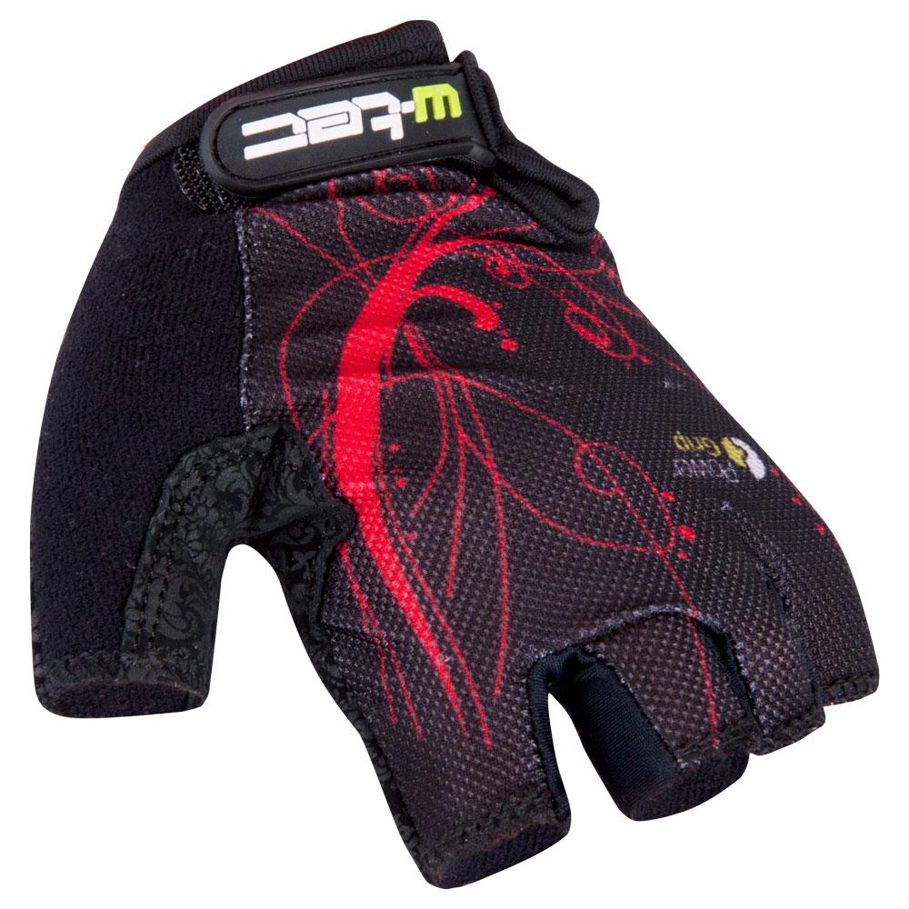Dámske cyklo rukavice W-TEC Mison čierno-červená - S