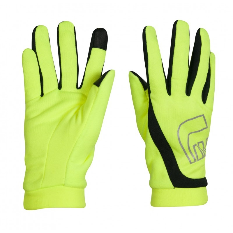 Bežecké rukavice Newline Thermal Gloves Visio neon - XS