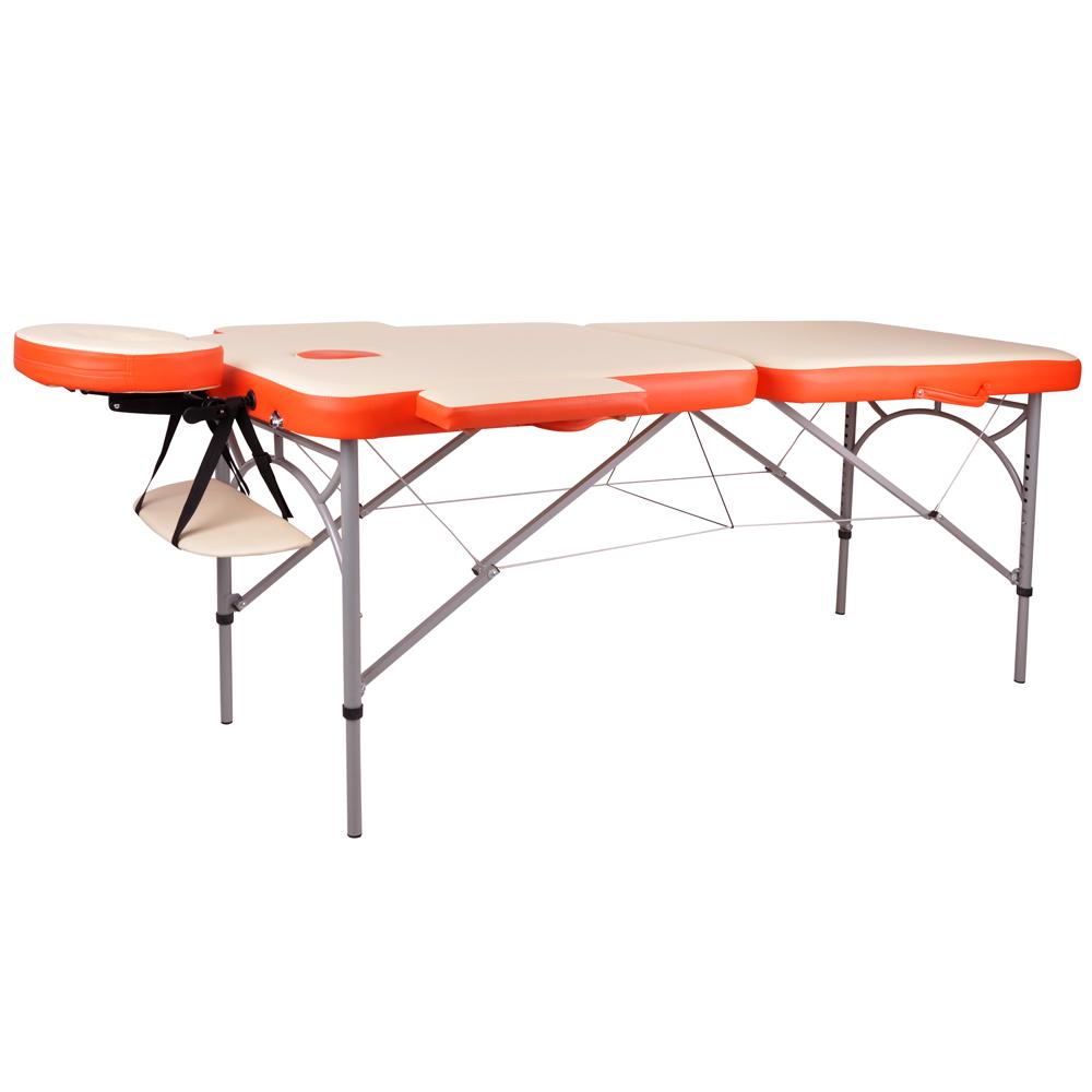 Masážne lehátko inSPORTline Tamati 2-dielne hliníkové oranžová