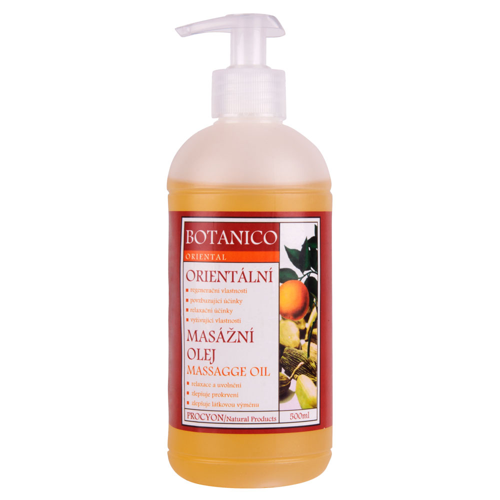 Orientálny masážny olej Botanico 500ml