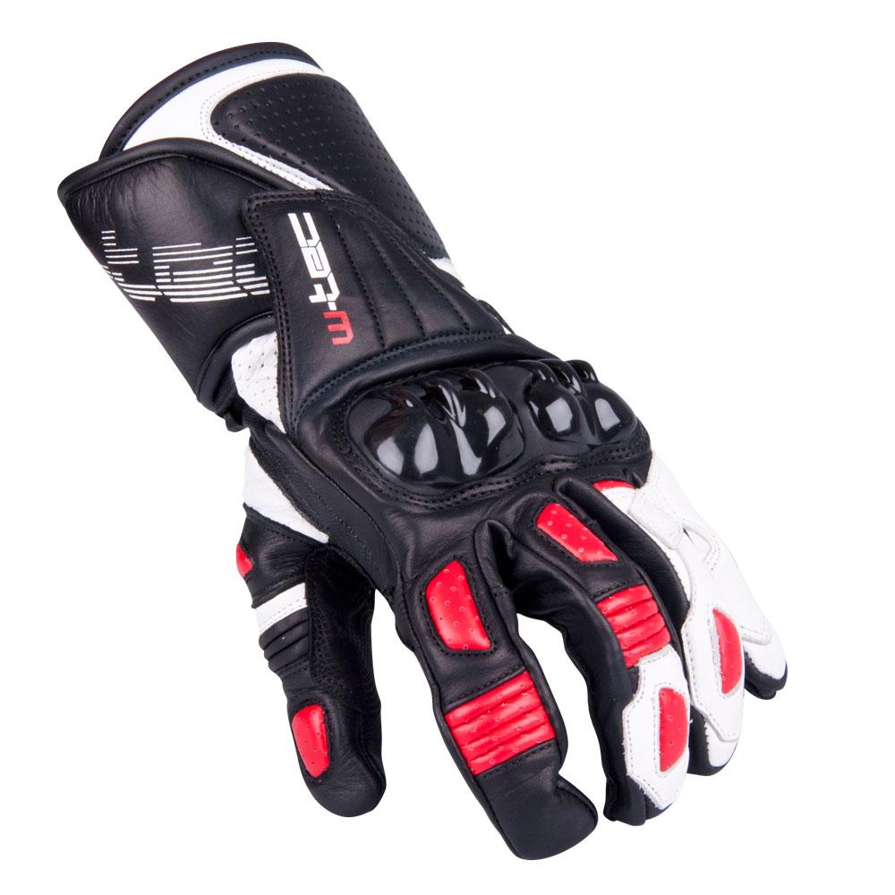Pánske moto rukavice W-TEC Decane červená - S