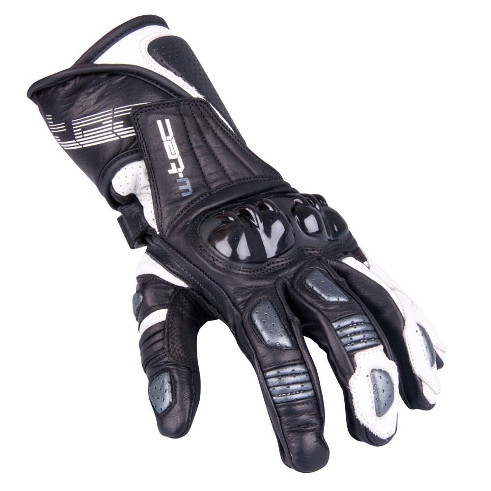 Pánske moto rukavice W-TEC Decane strieborná - M