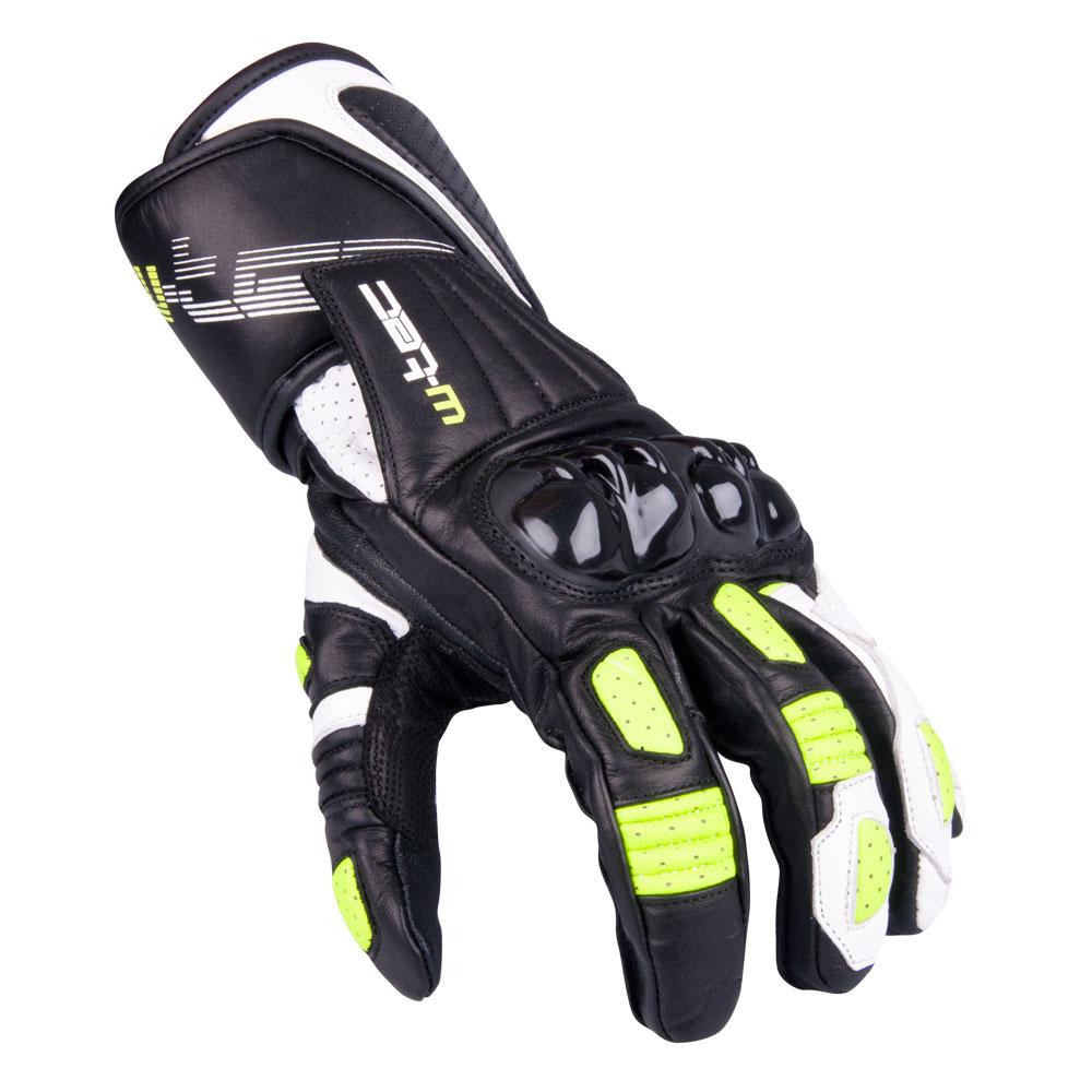 Pánske moto rukavice W-TEC Decane zelená - XL