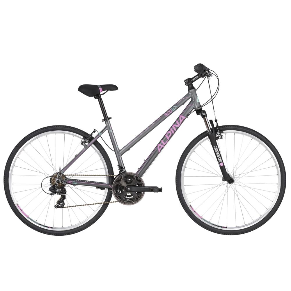 "Dámsky crossový bicykel ALPINA ECO LC10 28"" - model 2020 Grey - S (16.5"") - Záruka 10 rokov"