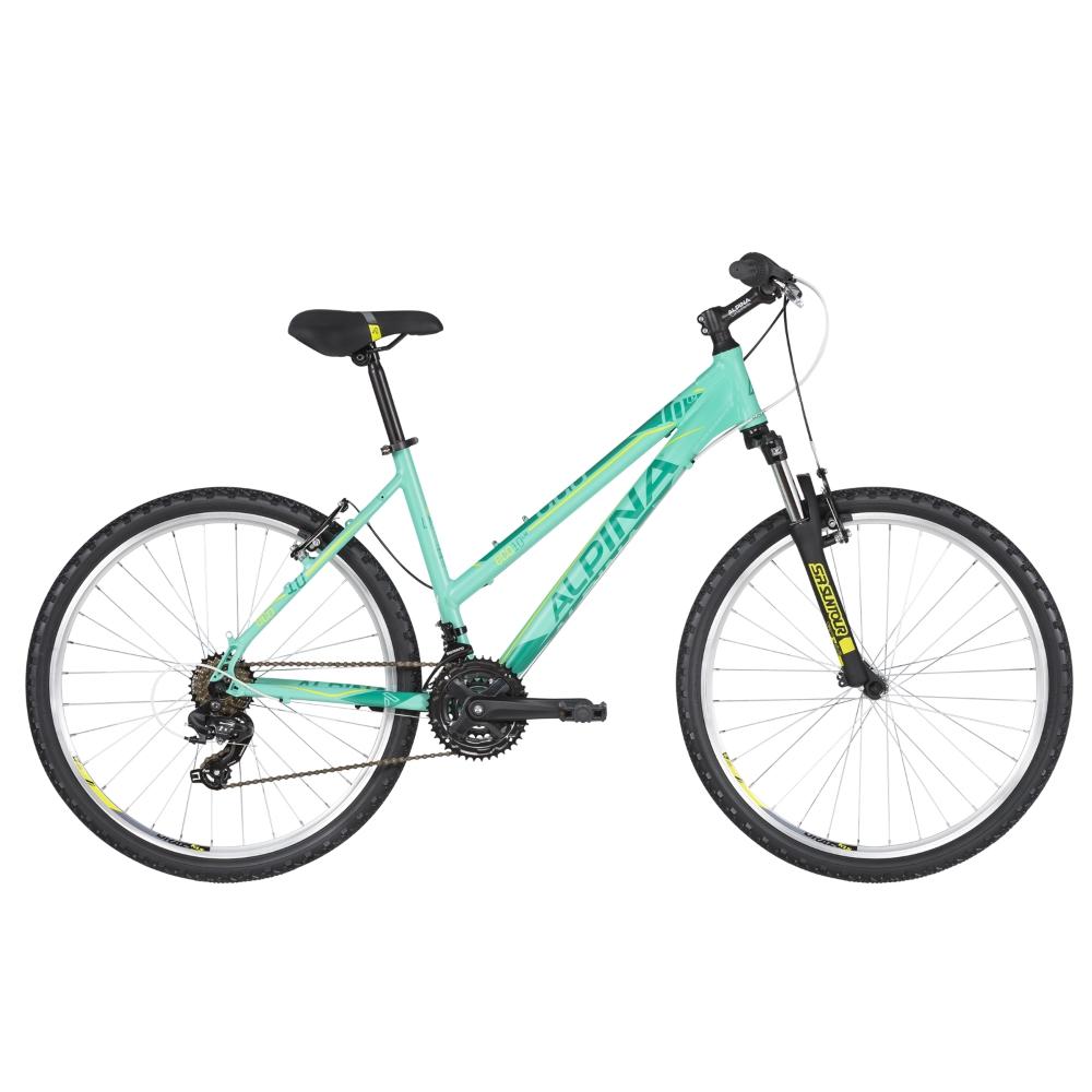 """Dámsky horský bicykel ALPINA ECO LM10 26"""" - model 2020 Mint - S (16.5"""") - Záruka 10 rokov"""