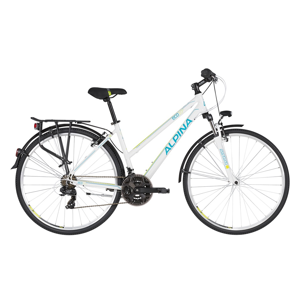 "Dámsky trekingový bicykel ALPINA ECO LT10 28"" - model 2020 White - S (16.5"") - Záruka 10 rokov"