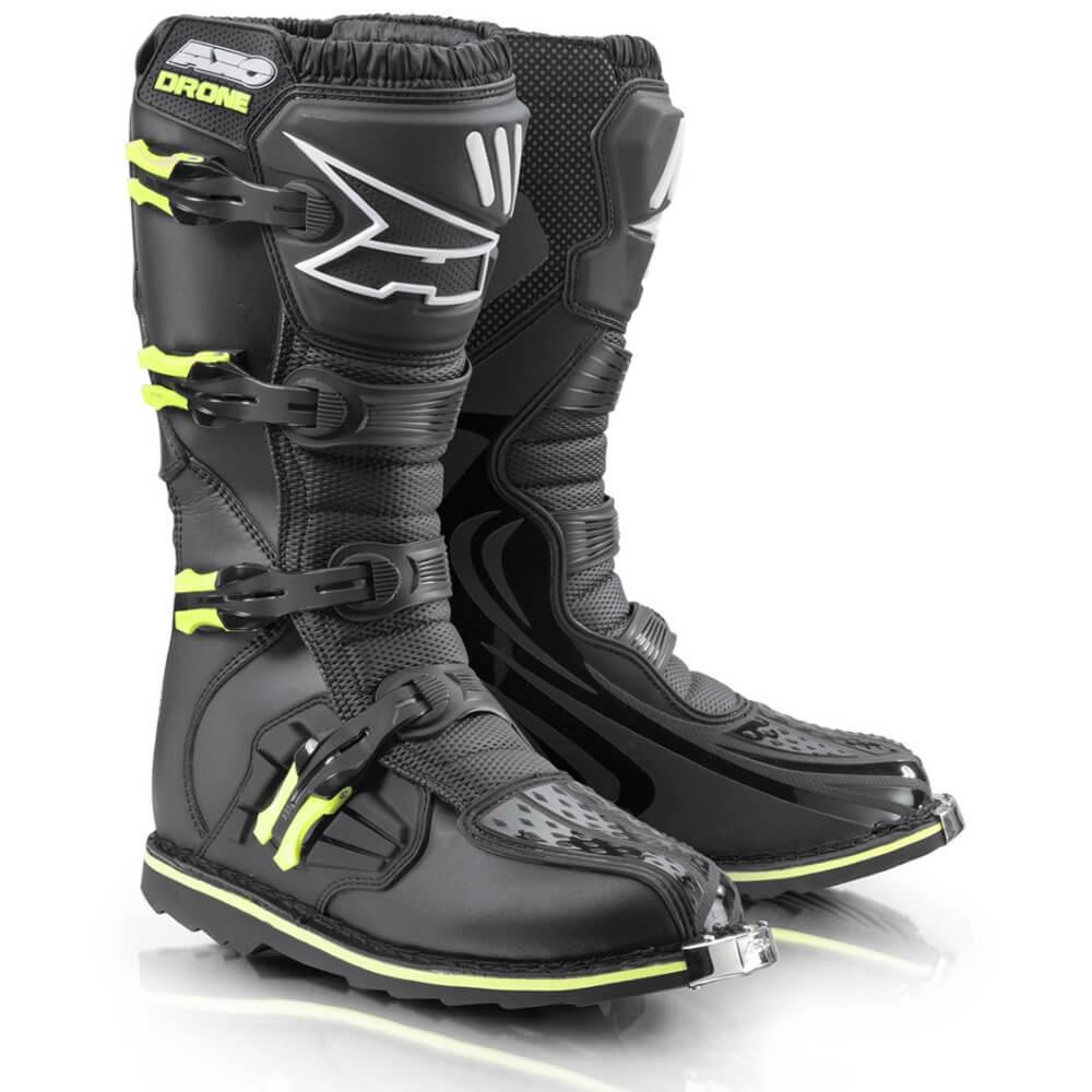 Motokrosové topánky AXO Drone Limited Edition čierna-fluo yellow - 40