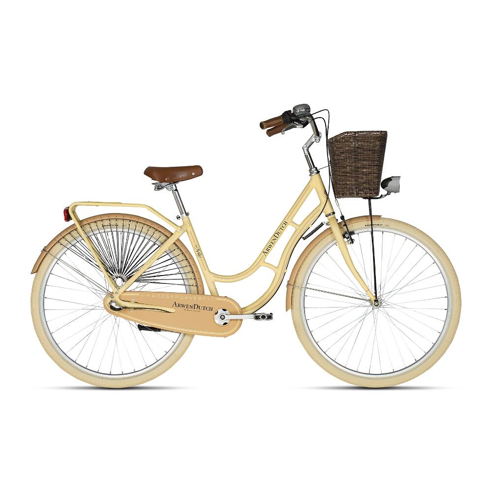"Mestský bicykel KELLYS ARWEN DUTCH 28"" - model 2018 Beige - 460 mm (18"") - Záruka 10 rokov"