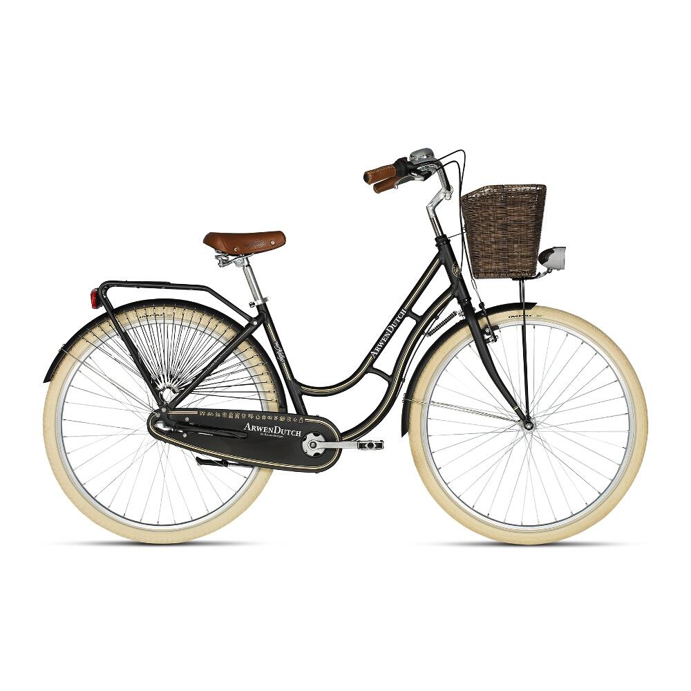 "Mestský bicykel KELLYS ARWEN DUTCH 28"" - model 2018 Black - 460 mm (18"") - Záruka 10 rokov"