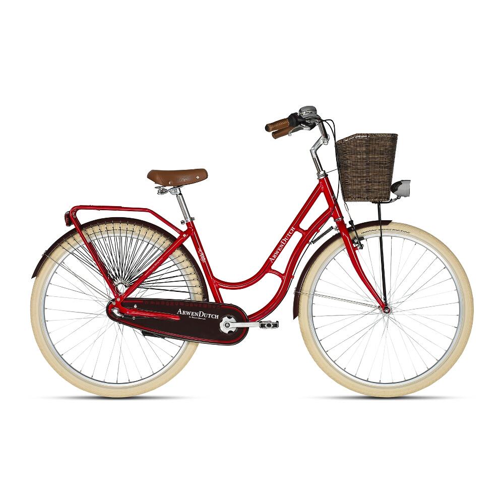 "Mestský bicykel KELLYS ARWEN DUTCH 28"" - model 2018 Red - 460 mm (18"") - Záruka 10 rokov"