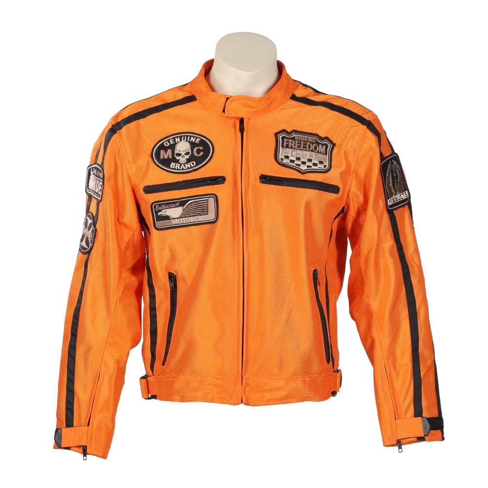 Letná moto bunda BOS 6488 oranžová
